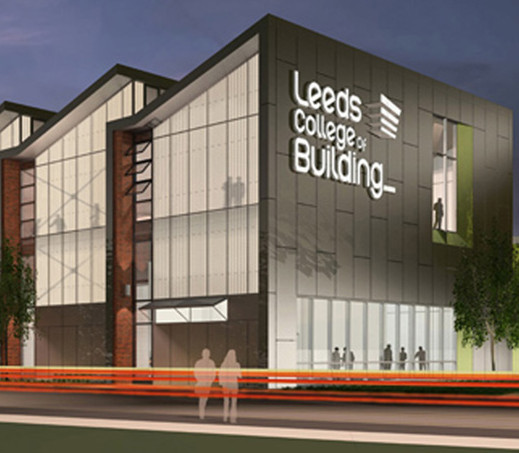 Illistration of Leeds College of Building campus project
